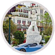 Exotic New Orleans Round Beach Towel