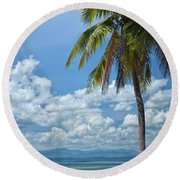 Exotic Palm Tree Round Beach Towel