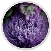 Exotic Purple Flower Two Round Beach Towel