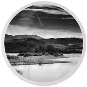 Expectant Round Beach Towel