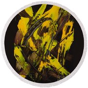 Expectations Yellow Round Beach Towel