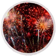 Explode Round Beach Towel by Diana Angstadt