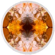 Exploding Ideas Abstract Pattern Artwork By Omaste Witkowski Round Beach Towel