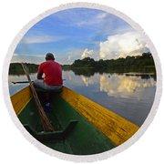 Exploring Amazonia Round Beach Towel