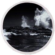 Explosion Round Beach Towel by Mike  Dawson