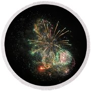 Explosion Of Color On Canada Day Round Beach Towel