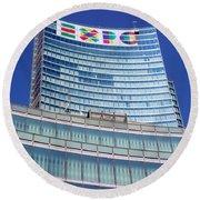 Expo 2015 Sign Round Beach Towel