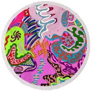 Expression Fantastic Round Beach Towel