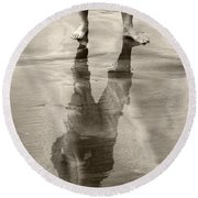 Extension Sepia Round Beach Towel