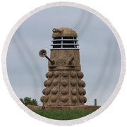 Exterminate  Round Beach Towel