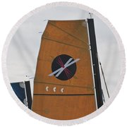 Extreme 40 Sail Detail Round Beach Towel