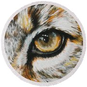 Eye-catching Bobcat Round Beach Towel by Barbara Keith