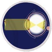 Eye Diagram Round Beach Towel