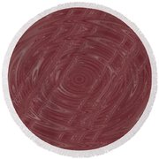 Eye In Vortex Round Beach Towel