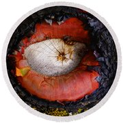 Eye Of Madrone Round Beach Towel