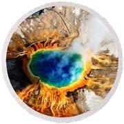 Eye Of The Earth Round Beach Towel