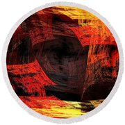Eye Of The Storm 2 - Blown Away - Abstract - Fractal Art Round Beach Towel
