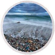 Eye Of The Storm Square Round Beach Towel