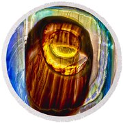 Eye Of Zeus Round Beach Towel