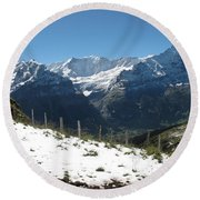 Eyeful Of The Eiger Round Beach Towel