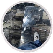 Eyes Down From The 103rd Floor One Big Step Round Beach Towel