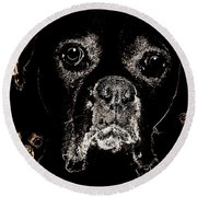 Eyes In The Dark Round Beach Towel