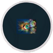 Eyes Of Love Round Beach Towel