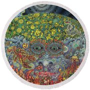 Eyes Of The Mind Round Beach Towel