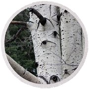 Eyes Of The Trees Round Beach Towel