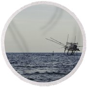 Eyes Of Time Round Beach Towel