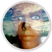 Eyes On The Horizon Round Beach Towel