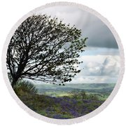 Eype Downs Overlook Round Beach Towel