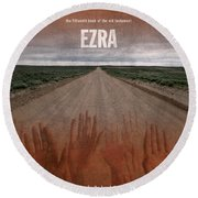 Ezra Books Of The Bible Series Old Testament Minimal Poster Art Number 15 Round Beach Towel