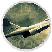 F-101b Voodoo Round Beach Towel