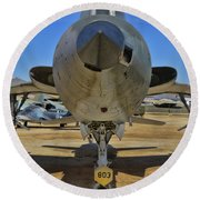 F-105b Tunderchief Round Beach Towel
