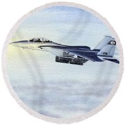 F-15 Eagle Round Beach Towel