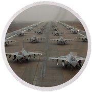 F-16 Fighting Falcons, Kunsan Air Base Round Beach Towel