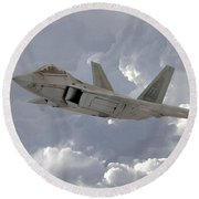 F-22 Raptor Round Beach Towel