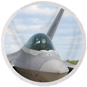 F-22 Raptor Lockheed Martin Air Force Round Beach Towel