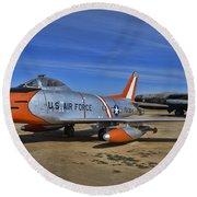 F-86h Sabre Round Beach Towel