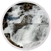 F Stop Glen Alpine Falls Round Beach Towel