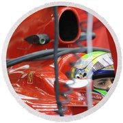 F1 Driver Felipe Massa Round Beach Towel