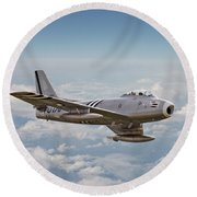 F86 Sabre Round Beach Towel by Pat Speirs