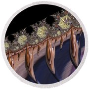 F927 Roots Round Beach Towel