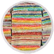 Fabric Colours Round Beach Towel by Tom Gowanlock