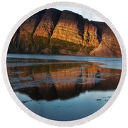Fabulous Fjord Landscape Of Norway Round Beach Towel