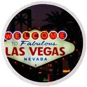 Fabulous Las Vegas Round Beach Towel