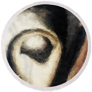 Face Embossed Round Beach Towel