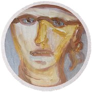 Face Five Round Beach Towel