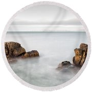 Ballycastle - Face In The Rock Round Beach Towel